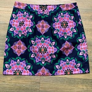 J Crew Factory Mandala Print Basketweave Skirt 6